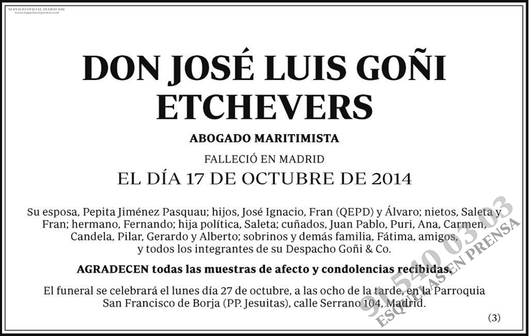 José Luis Goñi Etchevers